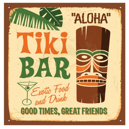 - Thirstystone 4-Piece Tiki Bar Coaster Set