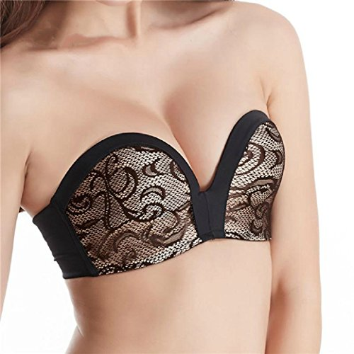 Invisible Strapless Sexy Push Up Bra Lace Embroidery - Women Underwear Bra Cotton