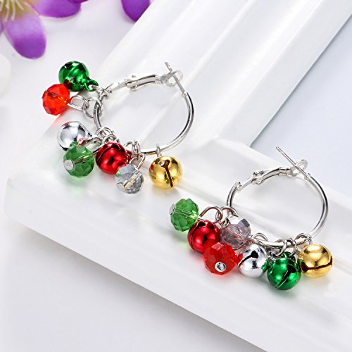 Christmas Bell Hoop Earrings
