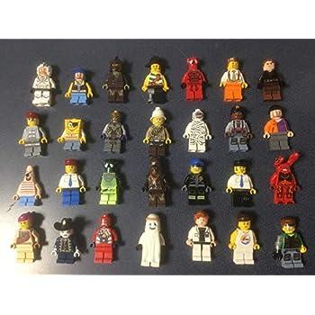10 LEGO MINIFIG PEOPLE  Random grab bag of mini figure guys city town minifigure