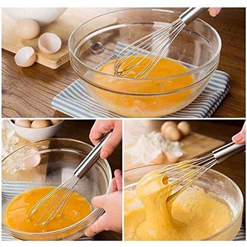 YUYDYU Mini Mango Inoxidable Mezclador Batidor Batidor De Huevo ...