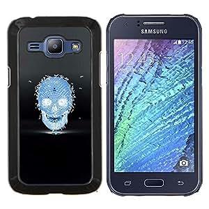 """For Samsung Galaxy J1 J100 Case , Las abejas de miel Cráneo Negro Azul de la Muerte"""" - Diseño Patrón Teléfono Caso Cubierta Case Bumper Duro Protección Case Cover Funda"""