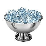 SHZONS Bar Ice Bucket, Stainless Steel Ice Bowl Metal Bar Beer Barrel Champagne Wine Big Ice Bucket,15.35×9.65''
