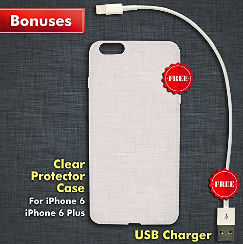 Screen Repair Complete Tool Kit Replacement Parts For iPhone 6 (White) Front Glass Lens Step by Step Instructions TWO EXTRA Bonuses USB Charging Cable AND Lightweight Matching Protector Case by Angel Phones (Image #4)