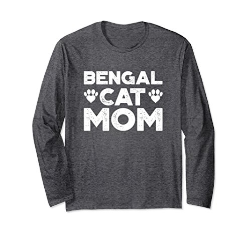 Unisex Bengal Cat Mom Shirt for Women 2XL Dark Heather