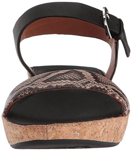 Sandal Black Fitflop Natural Bone Taupe Snake II Woman AqxFw8Ht
