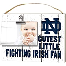 """KH Sports Fan 10"""" x 8"""" Notre Dame Fighting Irish Clip It Weathered Baby Logo Collage Photo Frame"""