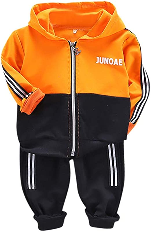 Toddler Baby Boys Long Sleeve Pullover Tops Pants Sportswear Outfits Tracksuit