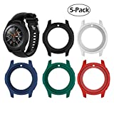Case Fit Samsung Galaxy Watch (46mm) /Gear S3 Frontier Protector Case, Soft TPU Shock-Proof Protective Bumper Sleeve Cover Case for Galaxy Watch (46mm) /Gear S3 Frontier (5-Pack)