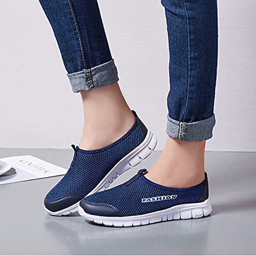 Comfortable Slip Outdoor Lightweight Casual Mesh Flat Couple Breathable Running on Sneakers Sole Lover Loafers Shoes xHtf7qIOw