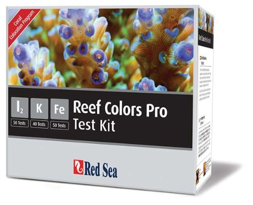Pro Coral Iodine - Red Sea Fish Pharm ARE21515 Saltwater Reef Color Pro Multi Test Kit for Aquarium