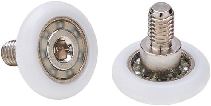 Almohadillas mampara de ducha Ruedas de bola de repuesto de acero para puertas de ducha A deslizamiento juego de 2 unidades ec-3305: Amazon.es: Bricolaje y herramientas