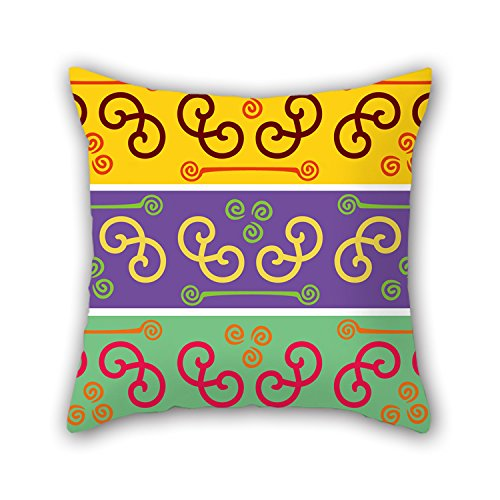 Artistdecor 18 X 18 Inches / 45 By 45 Cm Color Block Pillow Cases ,both Sides Ornament And Gift To Deck (Frog Crown Rocker)