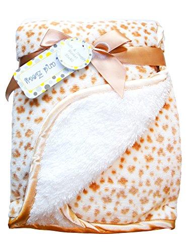 Zak & Zoey Ultra Soft Sherpa Animal Print Baby Blanket, 30 X 40 Inches (Brown) Animal Print Blanket