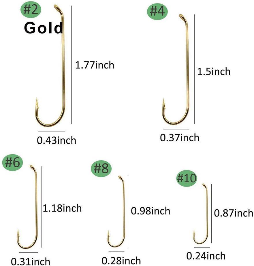 Shaddock P/êche /® 230/pcs 79580/haute en acier au carbone Fly attacher P/êche Crochets Long Corps Streamer Ensemble de crochets de p/êche avec bo/îte d/'accessoires