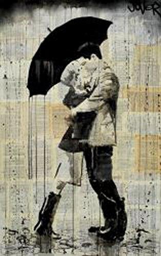 Amazon.com: The Black Umbrella by Loui Jover Vintage Couple ...