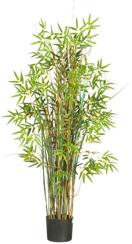 Nearly Natural 6569 Bamboo Grass Silk Plant, 5-Feet, Green