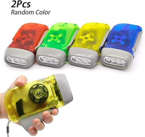 Portable Dual Battery Shake LED Flashlight Waterproof Emergency Light Torch NEW