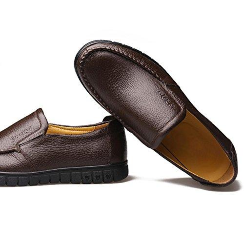 M Zapatos Zapatos Hombre Zapatos para Negocios Aire Brown Zapatos de de Ancianos amp;M al Trabajo de Zapatos conducción Libre de rq5wg0r