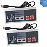 2-Pack Classic Nintendo USB NES Controller USB Famicom Controller Joypad Gamepad,EEEKit Computer Games Solution Kit for Windows PC / MAC / Raspberry Pi
