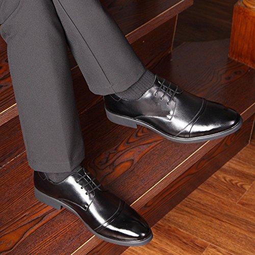 Scarpa in pelle nero Classico con per Comfort mocassini Elegante Martin uomo Stivali British Pelle Oxfords Pelle Vestito di Casual Style velluto Punta Sintetica Scarpa uomo Scarpe Affari Piedi Inverno rrwf5Eq