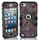 Candywe iPod Touch 5 Case 3in1 Tree Camo Design Hybrid Case Cover for iPod Touch 5th Generation Black