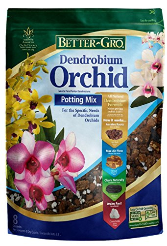 - Better-Gro Dendrobium Orchid Potting Mix 8 Quarts