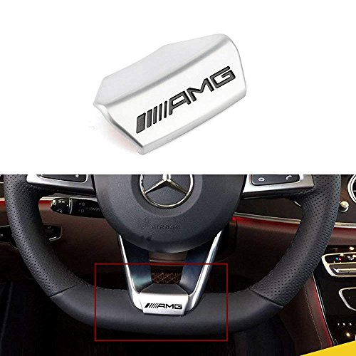balagongzhu AMG Steering Wheel Emblem Decal Sticker Badge Decoration Logo for Mercedes-Benz 16 Models 17 Models E200L E300L New E Class (Steering Wheel Emblem Decal Sticker) ()