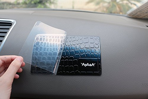 AyasA Sticky Pad Dash Mat Cell Phone Holder - Holds Cell Phones, Radar Detector, GPS. The Latest Sticky Mat Car Pad The Best Car Phone Accessories Dashboard Mat.