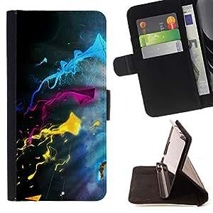 BullDog Case - FOR/Sony Xperia Z1 Compact D5503 / - / Color Splash /- Monedero de cuero de la PU Llevar cubierta de la caja con el ID Credit Card Slots Flip funda de cuer