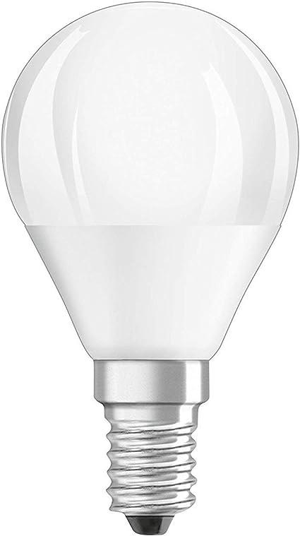 Osram LED Star Classic P Lampe, in Tropfenform mit E14 Sockel, nicht dimmbar, 5,7 W=40 Watt, Matt, Warmweiß 2700 Kelvin, 6er Pack