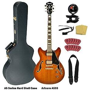 ibanez artcore as93 electric hollow body guitar violin sunburst w case and. Black Bedroom Furniture Sets. Home Design Ideas