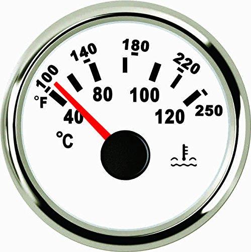 Agua medidor de temperatura 40 –  120 ℃ 52 mm 9 –  32 V con retroiluminació n ELING