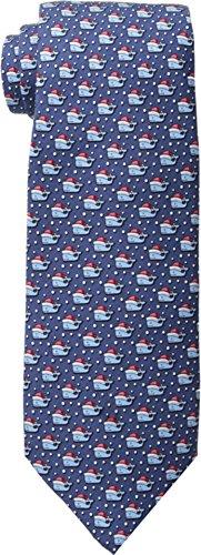 Vineyard Vines Men's Printed Tie - Santa Whale Navy Tie One Size