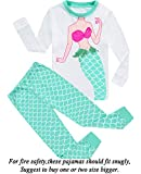 Dolphin&Fish Girls Pajamas Dance Little Kids Pjs 100% Cotton Toddler Clothes Children Sleepwear Size 7T