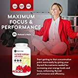 Thyroid Support Energy Pills ǀ Iodine Supplement & Metabolism Booster for Weight Loss, Brain Fog & Nature Throid with Adaptogens Ashwagandha, L-Thyrosine & Selenium Supplements ǀ 60 Capsules