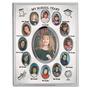 Lawrence Frames My School Years Silver Plated  8x10 Multi Picture Frame
