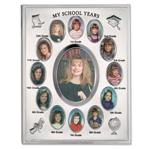 (Lawrence Frames My School Years Silver Plated  8x10 Multi Picture)