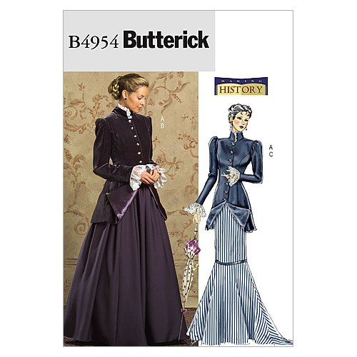 BUTTERICK PATTERNS B4954 Misses'/Misses' Petite Early 20Th Century Costume, Size BB (8-10-12-14) -