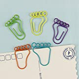 SODIAL 24 PCS Foot Shape Paper Clips Creative Interesting Bookmark Clip Memo Clip Shaped Paper Clips