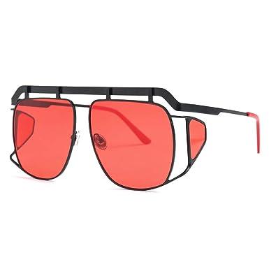 Amazon.com: Gafas de sol para hombre, diseño de escudo de ...