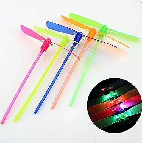 3PC Shining Neon Led Light Amazing Elastic Powered LED Flash Toy Randomly send (Rockets Neon)