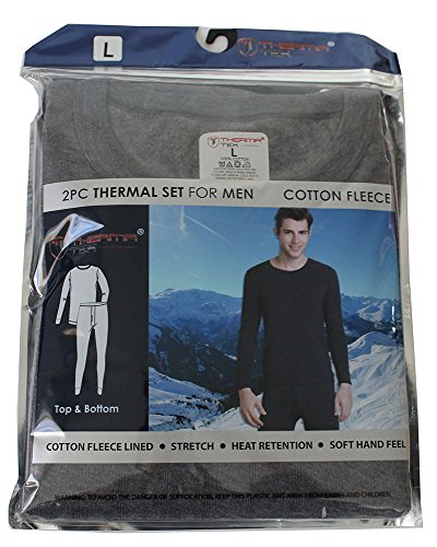 therma-tek-formerly-comfort-fit-mens-winter-thermal-cotton-fleece-top-bottom-2-pcs-set-gray