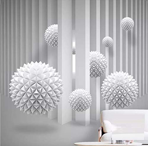 Wallpaper 3D Mural Three-Dimensional Spherical Art Space Wall Murals for Living Room and Bedroom Wall Decor ()