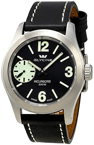 Glycine Incursore Manual Wind Stainless Steel Mens Swiss Strap Watch 3873.19SL (17 Jewel Manual Wind)