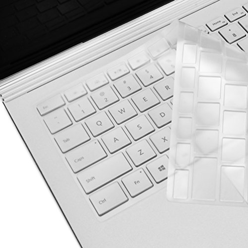 TOP CASE Clear TPU Keyboard Cover Skin Protector Compatible Microsoft Surface Laptop (2017 Released) & Surface Book Surface Book 2