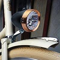 Angleterre Rétro Vintage Pour Vélo Phare LED couleur cuivre