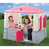 Kids Outdoor Playhouse Children Toddler Yard Indoor Girls Cottage Home Hut Pink