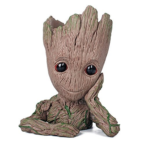 Creative Groot Planter Pot Baby Groot Flowerpot Cute Model Pen Container Guardians Action Figures Toy Gift For Kids