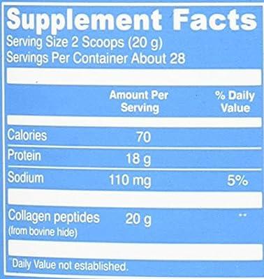 Hydrolyzed Collagen Powder - Vital Proteins Collagen Peptides Grass-Fed and Pasture Raised, dairy free, gluten free